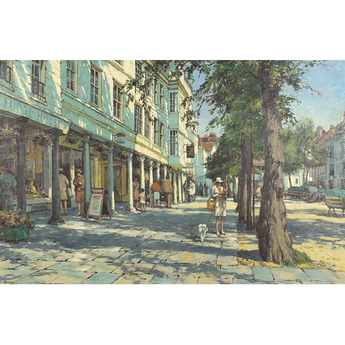 439 - Eric Bruce McKay - The Pantiles, Tunbridge Wells, oil on canvas, inscribed verso, mounted and framed...