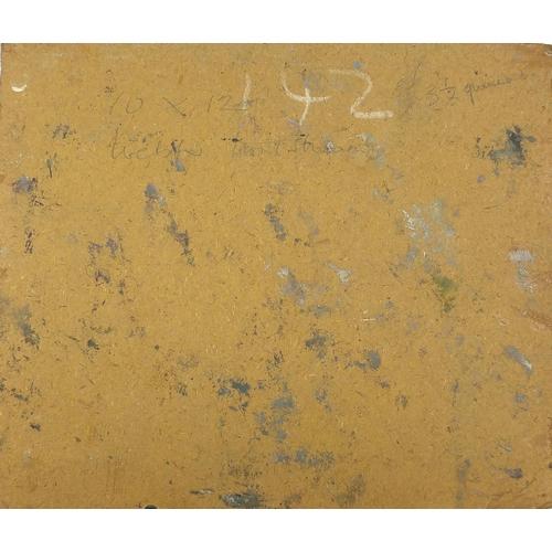 511 - Manner of Alexander Goudie - Welsh stream, oil on board, inscribed verso, unframed, 30.5cm x 27cm