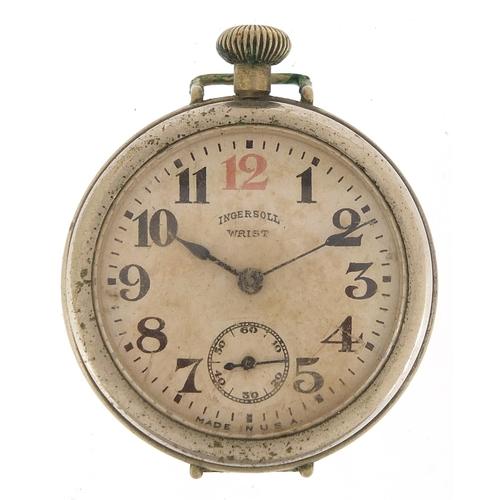 Ingersoll, vintage gentlemen's wristwatch with military type dial, 39mm in diameter