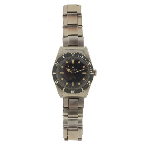 1701 - Rolex, vintage gentleman's Submariner automatic wristwatch, REF 6536-1, cal 1030, meters first, with...