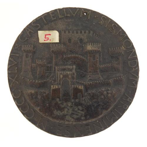237 - Antique Italian Renaissance medal with bust of Matteo De Pasti, 8.5cm in diameter