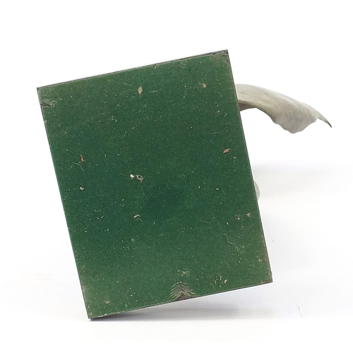 36 - Bob Allen, patinated bronze study of winged ballet shoes raised on a rectangular granite base, 60.5c...