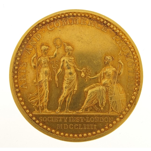 2242 - 18th century gold Society for Promoting Arts & Conference medal by Thomas Pingo awarded to Revd Char...