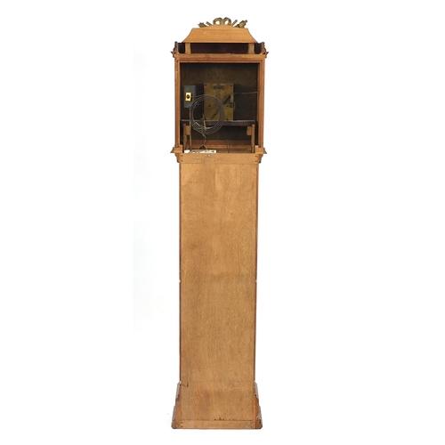 1452 - Mahogany longcase clock, the silvered dial inscribed Bolton Smith, Wigmore, Street London, 188cm hig...