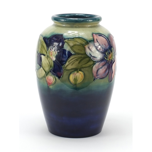 2 - Large Moorcroft pottery vase hand painted with flowers, signature and marks to the base, 24cm high