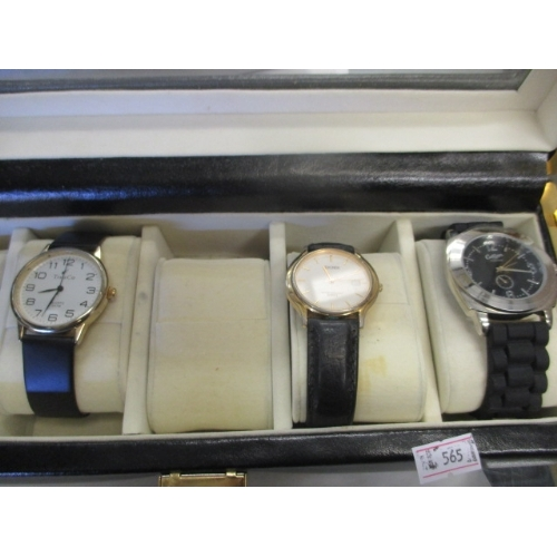 37 - 3 GENTS WATCHES -  TIM Co, QUARTZ AND COTTON ALL IN A BOX...