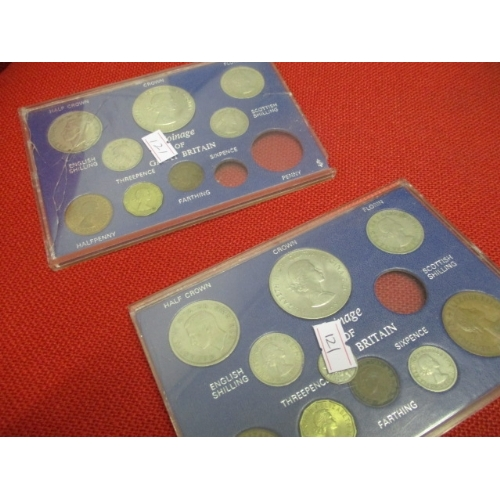 33A - 2 SETS OF PRE DECIMAL COINS OF GREAT BRITAIN - NOT COMPLETE...