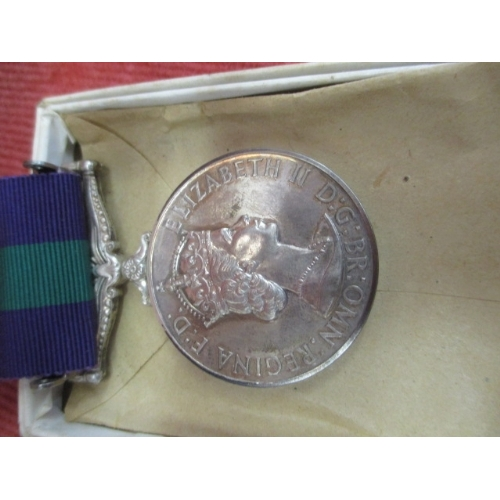 GSM WITH CLASP MALAYA MEDAL WITH RIBBON 22904870 Private K G Jary Queens
