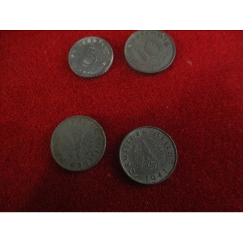 11A - 4 GERMAN NAZI COINS FROM 1941 AND 1943...