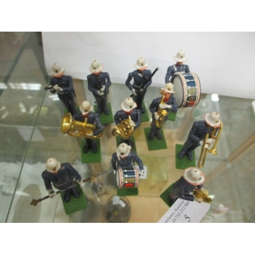 5 - 11 PIECE BRITAINS  ROYAL MARINES PAINTED PLASTIC MILITARY BAND...