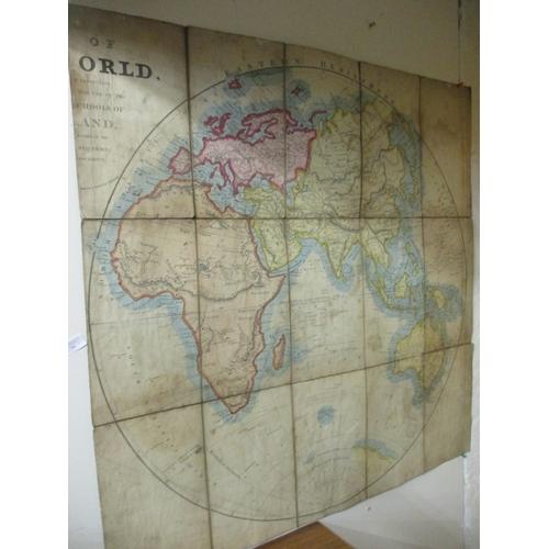 54 - LARGE VINTAGE SCHOOL WORLD MAP...