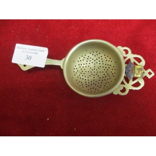 30 - TEA STRAINER FROM WEMBLEY EMPIRE EXHIBITION 1924...