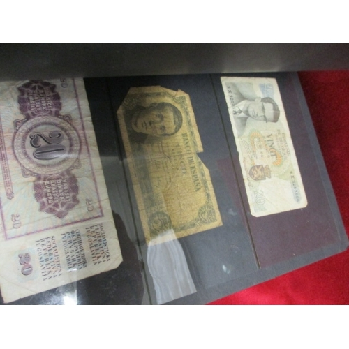 37 - ALBUM OF APPROX 50 WORLDWIDE BANK NOTES...