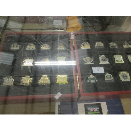 52 - CASE OF COMMEMORATIVE MEDALS OF TOTTENHAMS TROPHY WINS -  1967 FA CUP,  1963 EUROPEAN CUP WINNERS ET...
