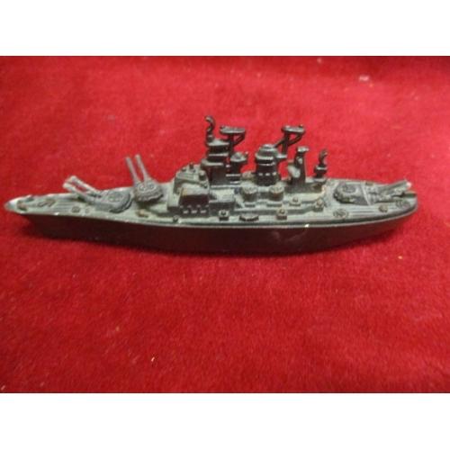 39 - METAL FIGHTING SHIP PENCIL SHARPENER...