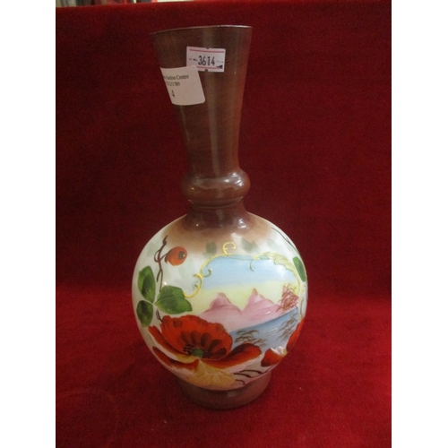 4 - HAND BLOWN, HAND PAINTED DELICATE VASE...