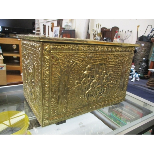 59 - BRASS COATED LOG BOX...