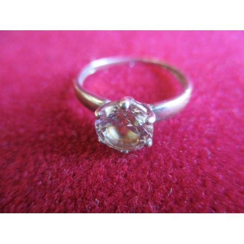26 - 9CT WHITE GOLD SOLITAIRE RING...