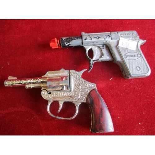 30 - SPUDMATIC TOY GUN PLUS ONE OTHER...
