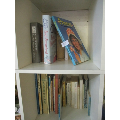 57 - 2 CUBES OF BOOKS INCLUDING JULIAN CLARY BRIEFS ENCOUNTERED AND PRINCESS GIFT BOOK FOR GIRLS 1970 AND...