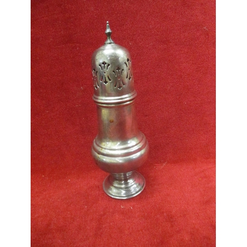 40 - SILVER PLATE EARLY SUGAR SHAKER...