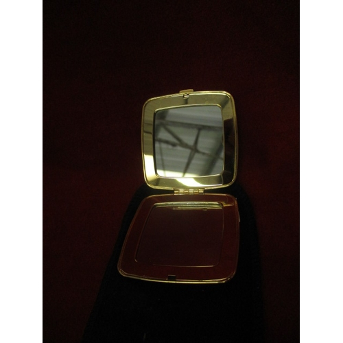 23 - GOLD METAL DOUBLE MIRROR COMPACT...