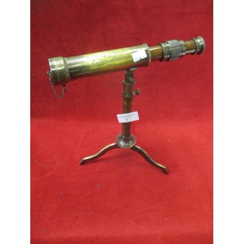 9 - W. OTTWAY & Co Ltd, Ealing, London 1915 telescope on tripod in brass...