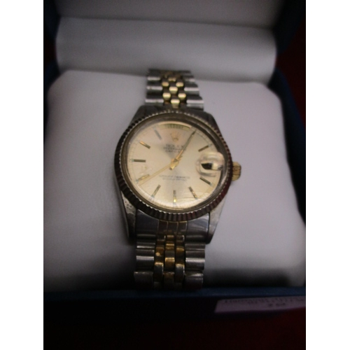 39 - ROLEX STYLE GENTS WATCH IN BOX...