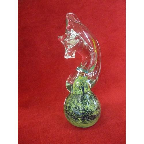 3 - MDINA GLASS SEAHORSE...