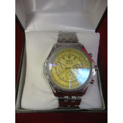14 - BREITLING REPLICA WATCH - BOXED...