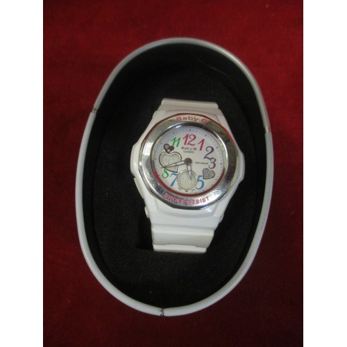 8 - BABY G WATCH IN BOX - WORKING...