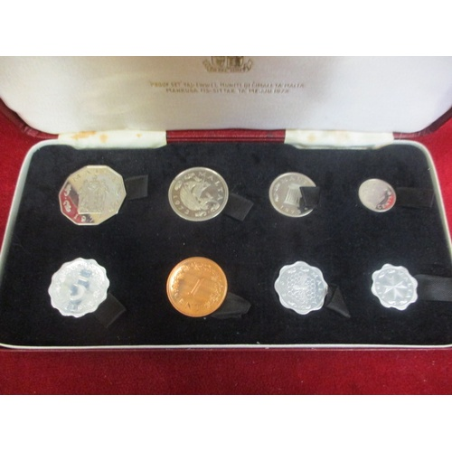 37 - BOXED 1972 MALTA PROOF COIN SET...