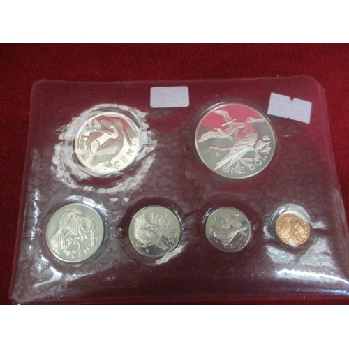 39 - BRITISH VIRGIN ISLES PROOF SET. ONE DOLLAR COIN IS SILVER...