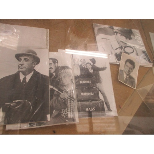 56 - COLLECTION OF PHOTOGRAPHS, PETER SELLERS, KARL MARX AND MAZ BYGRAVES...