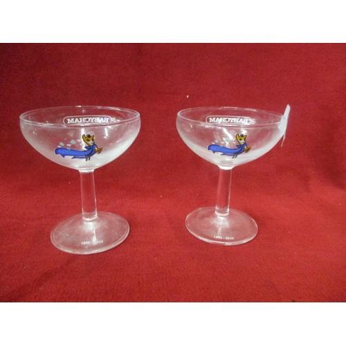 3 - 2 BABYCHAM GLASSES CELEBRATING 60TH ANNIVERSARY...