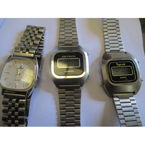 17 - 2 DIGITAL WATCHES AND A LORUS WATCH...
