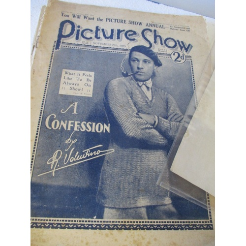 25 - 1925 PICTURE SHOW CONCESSION BY R. VALENTINO 1922 PUNCH MAGAZINE PHOTO OF MARYON LANE, 1951 FESTIVAL...