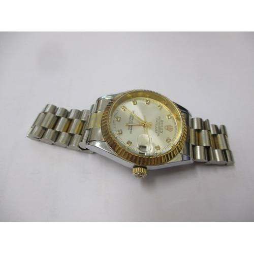 31 - ROLEX OYSTER PERPETUAL GENTS REPLICA WATCH, WORKING...