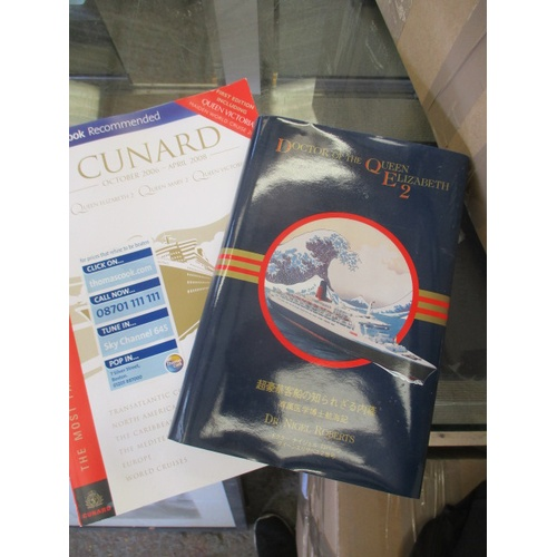 45 - 2 X QE2 RUCKSACK BAGS, BOOK/ CATALOGUE DOCTOR OF THE  QE2...