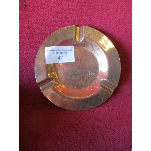 47 - TRENCH  ART ASHTRAY BATTLE OF BRITAIN...