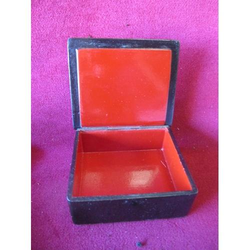 48 - PAPER MACHE CIGARETTE BOX...