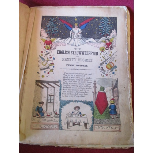 49 - THE ENGLISH STRUWWELPETER OR PRETTY STORIES AND FUNNY PICTURES  FOR THE LITTLE CHILDREN AFTER THE  F...