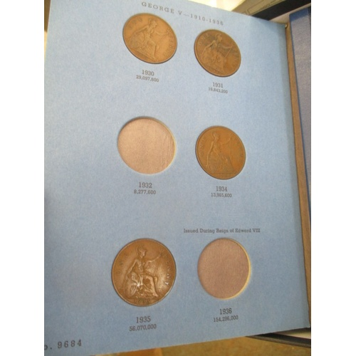 25A - A SHOE BOX CONTAINING  15 PART FILLED WHITMAN COINS, FOLDERS CONTAINING HALF CROWNS, FLORINS, SHILLI...