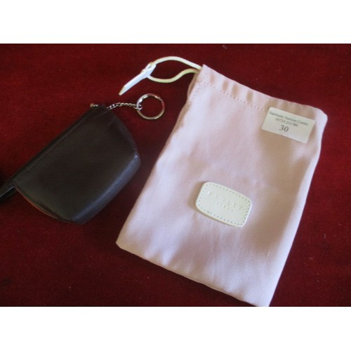 30 - RADLEY COIN PURSE AND RADLEY DUST BAG...