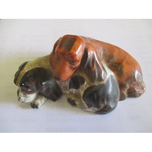 35 - GOEBEL,  GERMANY 1950-55,  PAIR OF SPANIEL DOGS...
