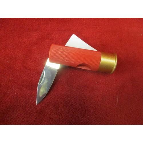 47 - SHOT GUN CARTRIDGE PEN KNIFE (WHITBY 12 GA)...