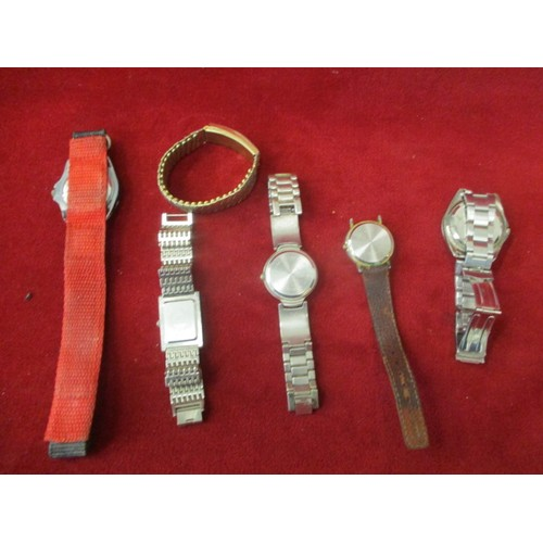 40A - 5 GENTS WATCHES - PHILIP PERSIO, CHAK SPORTS,  GIANI GIORGIO ETC AND A BRACELET...