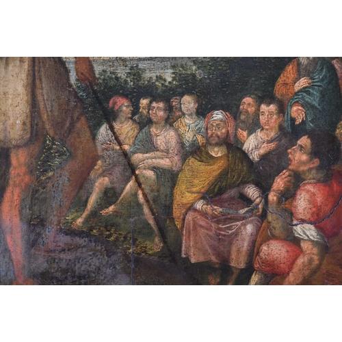 1 - 18th century North Italian School, The Preaching of St John the Baptist on the Jordan River, oil on ...