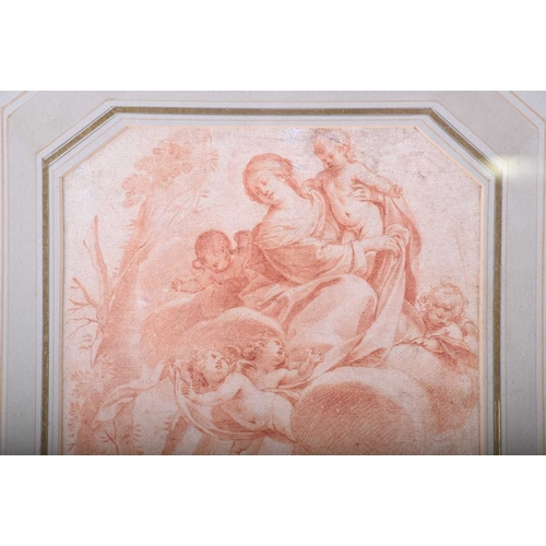 15 - Attributed to Laurent De La Hyre (1606 - 1656), 'The Madonna Appearing to St Anthony', red chalk, cu...