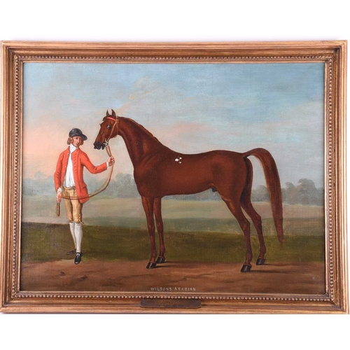 2 - T. Spencer, 'Wilson's Arabian', oil on canvas, with applied plaque to the mount inscribed 'Wilson's ...